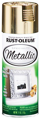 Rust-Oleum 1910830 Specialty Metallic Specialty Spray Paint. Perfect for the chic DIY project.