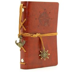 Pocket Size Vintage Retro Leather Cover Notebook Journal Blank String... ($7.99) ❤ liked on Polyvore featuring home, home decor and stationery