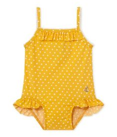 Baby girl's polka dot swimsuit