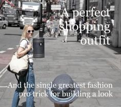 An easy, fun and comfortable look, perfect for shopping in London, plus the greatest fashion pro trick for building your outfits. Hacks, London, Building, Easy, Fun, Fashion Tips, Outfits, Shopping, Style