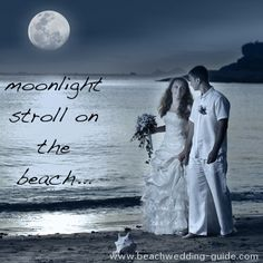 Moonlight on the beach, #beach wedding photo
