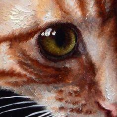 Friday's detail, oil painting. Le détail du vendredi, peinture à l'huile. Full painting / Peinture entière: http://marinadieul.com/minauderie-2-english/marina-dieul-animals.html