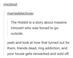 Aren't we all a little Bilbo?