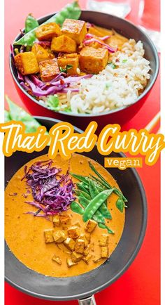 This Thai Vegetarian Coconut Curry recipe is an easy, flexible Thai curry recipe that transforms boring weeknight dinner into an exciting meal! Coconut Curry Vegetarian, Vegan Thai Curry, Thai Curry Soup, Thai Curry Recipes, Soup Recipes, Dinner Recipes, Vegan Vegetarian, Healthy Recipes, Thai Vegetarian Recipes