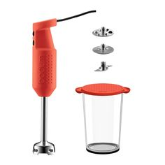 BISTRO Electric blender stick with accessories Red