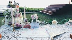 Bridal shower high tea party table decoration • Divine project bali