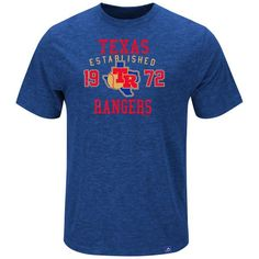 Texas Rangers Majestic Cooperstown Heads Or Tails T-Shirt - Royal - $31.99