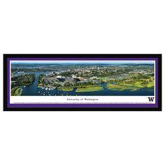 University of Washington Aerial Framed Wall Art, Multicolor