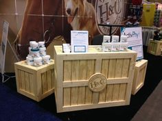 Rustic wood trade show display crates & stacking cubes enhance your booth. JBrothersandCompany.com