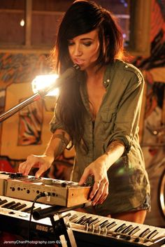 Lights! I love her music and outfits!