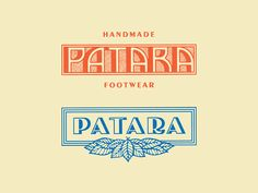 Patara Type designed by Jonathan Schubert. Connect with them on Dribbble; the global community for designers and creative professionals. Luxury Logo Design, Vintage Logo Design, Modern Logo Design, Vintage Logos, Retro Logos, Graphic Design Posters, Graphic Design Typography, Branding Design, Hotel Branding