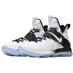 93ab5d10473 Nike LeBron 14 BHM Men Basketball Shoes Gold Shoes