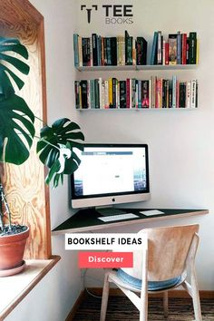 Create the best workspace with TEEbooks floating shelves and increase your productivity and efficiency 🖥🌿📚 Credits : @charlotte.sigvardt #workplace #workspace #work #designyourworkspace #shelfie #shelf #walldecor #bookcase #bookshelf #plants #greendesign #shelvesdesign #interiordesign #homedesign #homedecor #interiordesign #home #interior #decor #design #art #homedesign #decoration #homesweethome #interiors #architecture Office Furniture Design, Home Office Decor, Office Ideas, Room Ideas Bedroom, Bedroom Decor, Wall Bookshelves, Home Room Design, Aesthetic Bedroom, New Room