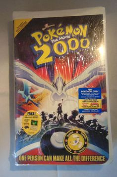 Pokémon the Movie 2000 (VHS, Clamshell) for sale online Pokemon 2000, Catch Em All, Birthday List, Make All, Seal, Pikachu, Nostalgia, Coins, Art
