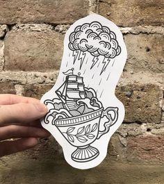Collage Tattoo, Tattoo Flash Art, Body Art Tattoos, Tattoo Drawings, Sleeve Tattoos, Real Tattoo, Diy Tattoo, Blackwork, Teacup Tattoo