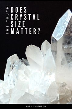 It's a question that can't be answered with a simple yes or no when it really depends on the work you're trying to get done. #healingcrystals Chakra Crystals, Crystals And Gemstones, Stones And Crystals, Healing Stones, Crystal Healing, Crystal Guide, Meditation Crystals, Amethyst Cluster, Size Matters