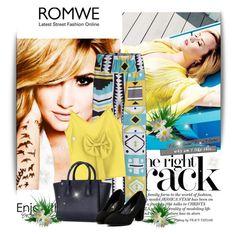 """Demi Lovato"" by aminkicakloko ❤ liked on Polyvore featuring romwe"