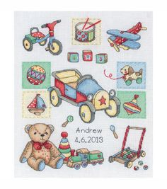 Maia Counted Cross Stitch Kit Boy Birth Record
