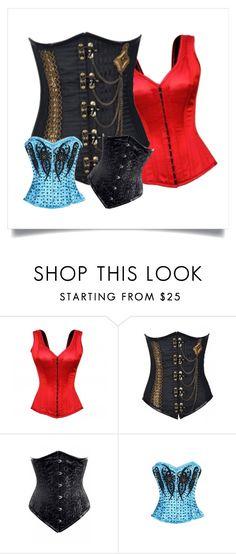 """Corset Collection By Corsetsqueen.com"" by corsetsqueen-134 on Polyvore Corset Shop, Wedding Corset, Plus Size Corset, Steampunk Corset, Waist Training Corset, Boots, Polyvore, Collection, Shopping"