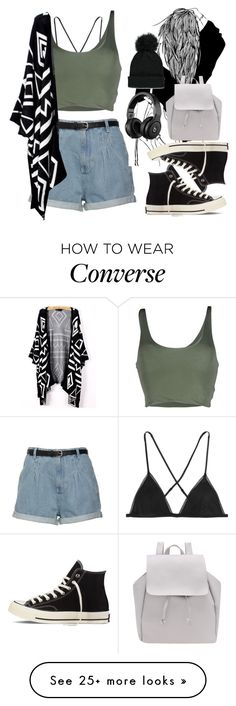 """#6165"" by sofy02 on Polyvore featuring Kiki de Montparnasse, Roque, Converse, Forever 21 and converse"