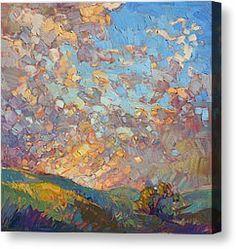 Mosaic Sky Canvas Print by Erin Hanson