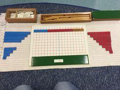 Subtraction Strip Board Montessori Kindergarten, Montessori Homeschool, Addition Chart, Teacher Office, Arithmetic, Math, Board, Kids, Young Children