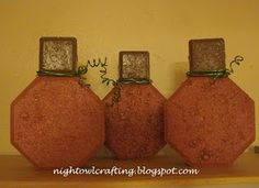 Night Owl Crafting has another great idea for unique pumpkins. She made some out of pavers! Check out the Paver Pumpki. Cement Pavers, Painted Pavers, Painted Bricks, Brick Pavers, Concrete Blocks, Owl Crafts, Cute Crafts, Crafts To Do, Kids Crafts