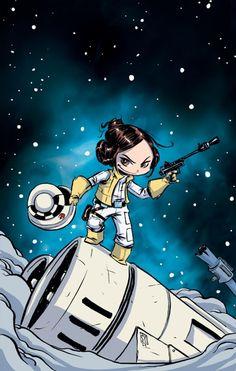 Skottie Young: Princess Leia Vol.1 #1 baby variant cover