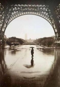 An Optical Illusion in Paris. This shot was taken under the Eiffel Tower in Paris. Do you see the face?