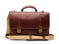 Bosca's Double Gusset Flapover is made from top quality leather with extreme attention to detail. Mens Luggage, Trolley Bags, Leather Duffle Bag, Elegant Man, Garment Bags, Italian Leather, Leather Men, Messenger Bag, Dark Brown