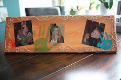 Collage Kinderbilder mit Handabdrücken