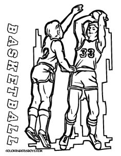 Jump For These Basketball Coloring Pages Kids Free Mens Sports Printables Of Players Running Dunking Court