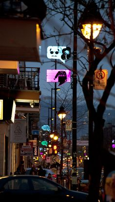 Montreal Just Got Some 'Speech Bubble' Street Lights - Jenny Xie - The Atlantic Cities Dark Winter, Winter Night, Life Comics, Bubble S, Creators Project, Office Gifts, Light In The Dark, Montreal, Signage