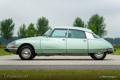 Citroen DS 21 Pallas, year Chassis number Colour 'Vert Argente' (light green metallic) with a black leather interior and grey carpet. This fabulous Citroen DS … Citroen Ds, Mini Trucks, Cars For Sale, 21st, Vehicles, French, Favorite Things, Goodies, Concept