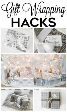Gift wrapping hacks! Make your gifts look amazing without a ton of effort!