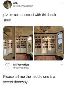 Dream Rooms, Dream Bedroom, Future House, My House, Dream Library, Home Libraries, Aesthetic Rooms, House Goals, Cool Rooms