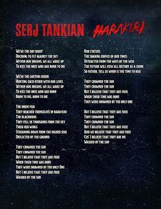 Soad Serj Tankian   Serj Tankian presenta nuevo single Harakiri
