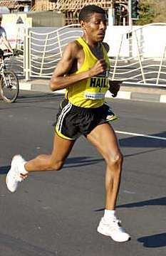 Haile Gebrselassie (men's marathon world record holder, 2:03:59, Berlin 2008)