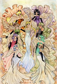 The Queen and Her Angels by silver-eyes-blue.deviantart.com on @deviantART