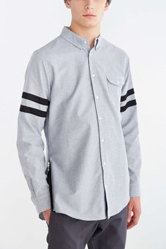 The Narrows Side-Zip Blended Oxford Button-Down Shirt