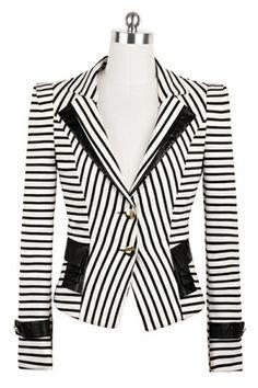 Elegant Striped Blazer