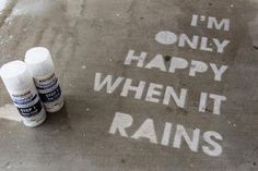 rustoleum never wet spray paint - only shows up when it rains