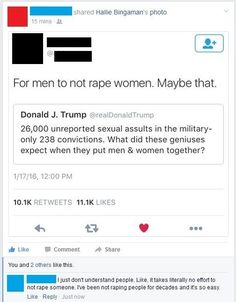 When this guy commented on how easy it is to NOT rape people:   21 Times People On Facebook Issued Some Serious Justice
