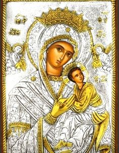 Virgin Mary the Undefiled with 24k gold plating
