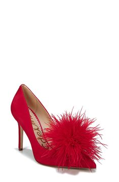 a5820aaf489 Sam Edelman Haide Feather Pompom Pump (Women) available at Nordstrom.