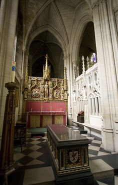 St Sebastian's chapel in Downside  From 1917-31, Sir Ninian Comper worked on this splendid little chantry chapel in Downside Abbey church. Dedicated to St Sebastian, patron of athletes and soldiers, it was conceived as a memorial to all the young men of the Abbey school who had perished in the First World War.