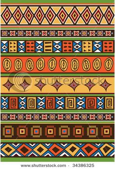 African Pattern. Could be good way to divide negative quilting space & patterns