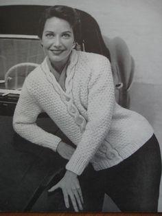 1950's Vintage Sweater...  Jersey Clásico de los 50's...