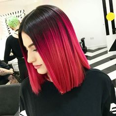 Red Light Bob ...By Annie & Sophia at @notanothersalon #redhair #ombrebob #behindthechair by behindthechair_com You can follow me at @JayneKitsch