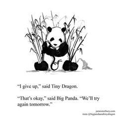 Big Panda, Bored Panda, Introvert Vs Extrovert, Dragon Quotes, Dragon Comic, Tiny Dragon, Zen, I Give Up, I Work Out